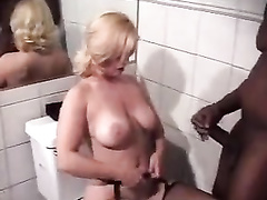 Blonde mature wife degraded by black cock