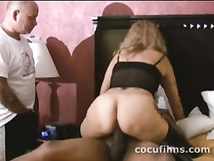White bbw loves to ride black dick