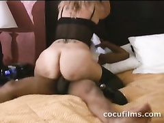 Sexy big assed milf wife rides black dick