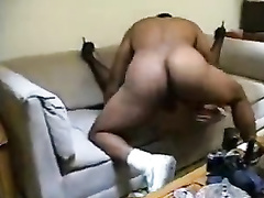 Cuckold bitch gets bbc training on sofa