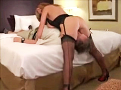 White wife fucked by old bbc in front of cuck