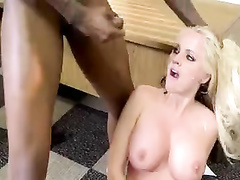 Blonde gorgeous white milf teacher interracial foursome