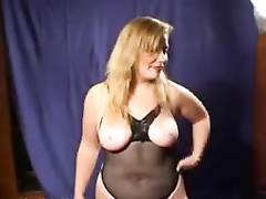 Chubby French blonde wife gets black immigrant refugees gangbang