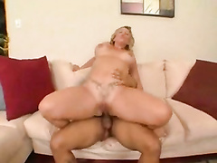 Curvy blonde mom gets impaled by big black student