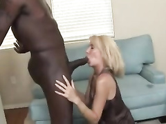 White blonde mature cougar receives huge bbc