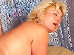 Blonde cuckold mother gets her ass fucked by bbc