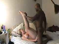 Blonde curvy cuckold wife gets doggystyle bbc