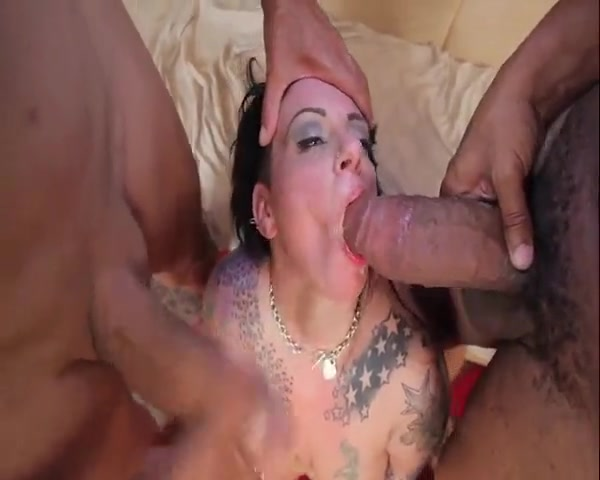 Interracial blowjob bbw