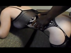 Big assed white lingerie wife bbc gangbang