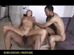 Euro French milf immigrants threesome cuckold