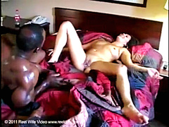 White wife gets black cock in her ass
