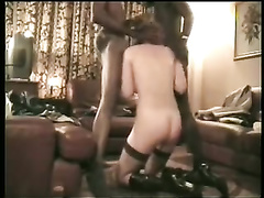 Amateur female gets it on with two interracial lovers