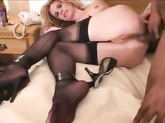 Sexy cheating bitch wife in stockings fucked by bbc