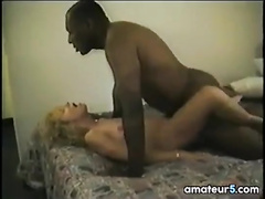 Old-time porn video focusing on interracial cuckold