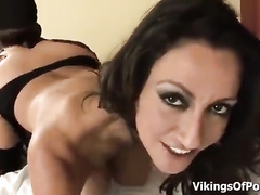 Classy MILF with big boobs creampied by a BBC