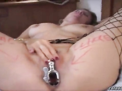 Anal Cuckold bitch in fishnets filmed by husband w BBC