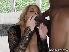 Alyssa Lynn takes BBC in front of son oh her lover