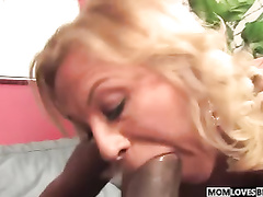 Your mom cant stop suck this big black cock
