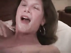 Threesome with milf  in high heels with her BBCs