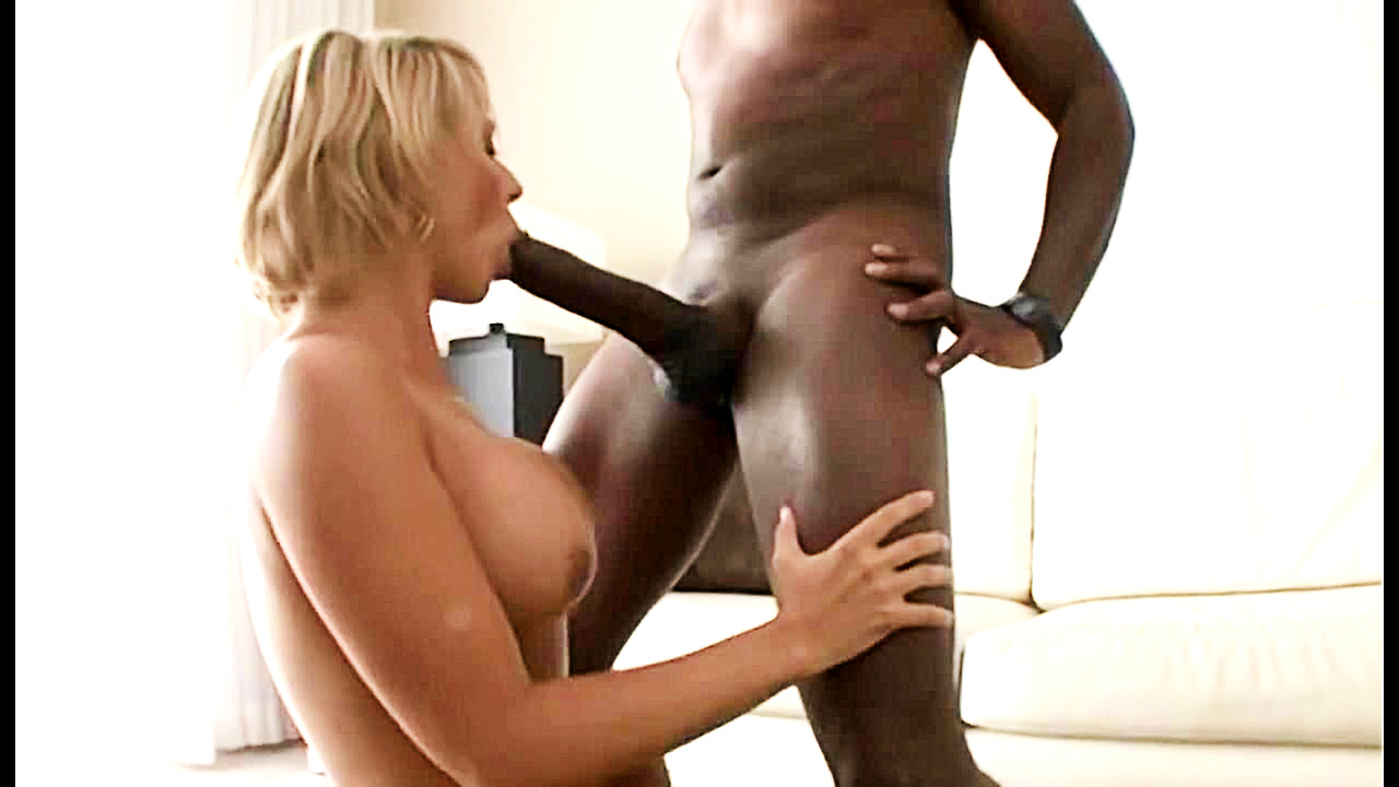 Older Blonde Milf Black