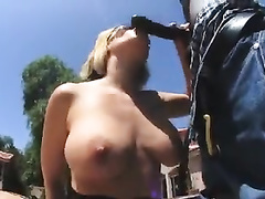 Blonde milf wife w big ass sucks and fucks bbc