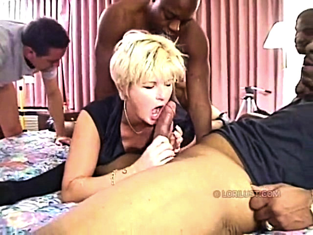 Interracial double penetration white milf