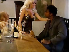 White retro blonde hottie gets bbc hardcore