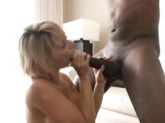 Gorgeous shorthaired blonde milf wife gets bbc monster